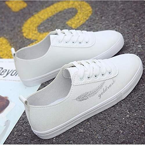 oro Tacco donna poliuretano piatto Punta Primavera ZHZNVX PU Sneakers chiusa Scarpe Gold argento Comfort da Estate qzwq4Op