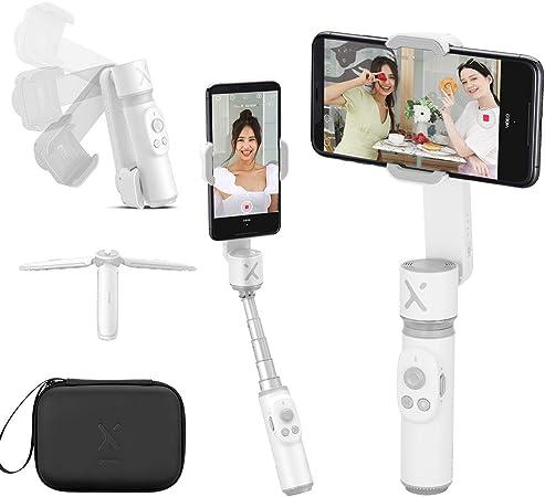 Todo para el streamer: Zhiyun Smooth X Smartphone Selfie Stick Gimbal Estabilizador,Mano Móvil Gimbal para iPhone 11 Samsung Huawei Android/iOS, Extensible Selfie Stick Edición Video para Live-Streaming Vlogging Youtube