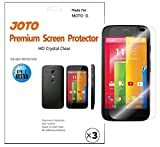 moto g battery cover replacement - Motorola MOTO G Screen Protector - JOTO Ultra HD Crystal Clear (Invisible) version Japanese Screen Protector Film Guard for 2013 Motorola MOTO G smartphone, with Lifetime Replacement Warranty (3 Pack)