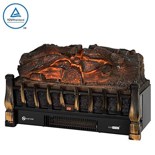 VIVOHOME 110V Electric Insert Log Quartz Fireplace Realistic