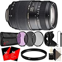Tamron Zoom Telephoto AF 70-300mm f/4-5.6 Di LD Macro Autofocus Lens with Accessories for Canon EOS Rebel Cameras