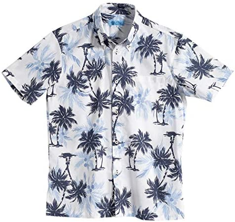 [MAJUN (マジュン)] 国産シャツ かりゆしウェア アロハシャツ 結婚式 メンズ 半袖シャツ ボタンダウン ココナッツツリー