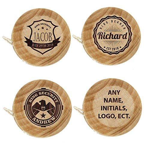 Custom Personalized Wood Yo Yo - Engraved Ring Bearer Gift - Wooden Classic Toy Yoyo - Monogrammed for -