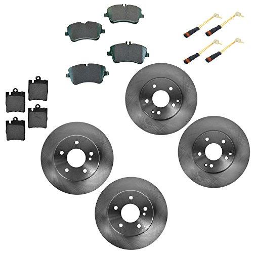 Mercedes Benz Sedan Brake Pad (Front & Rear Ceramic Brake Pad & Rotor Kit w/ Sensors for Mercedes Benz)