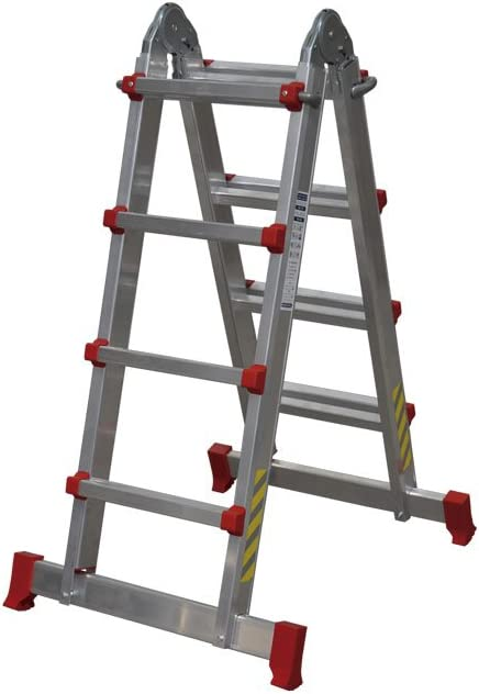 Cofan 09401070 Escalera multiposición con 4x4 peldaños, 0.011 V, 3,83 m: Amazon.es: Bricolaje y herramientas