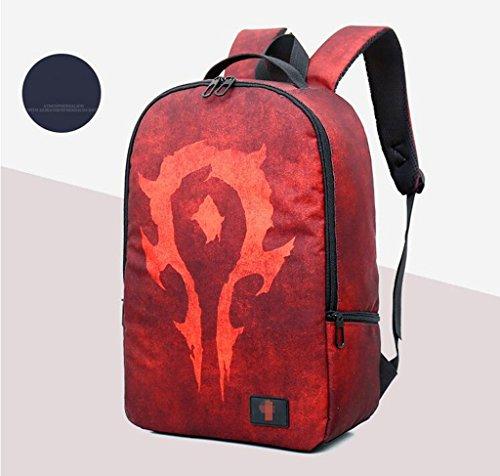 Sucastle borse per il tempo libero sacchetto di modo zaino tracolla borsa sacchetto di nylon sacchetto del fumetto Sucastle Colore:rosso Dimensione:43x28x14cm