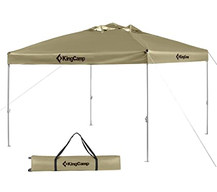 best sneakers 9611d 828c8 KingCamp 10 x 10 Feet Canopy Outdoor Sun Shelter Instant Folding Shade  Portable Collapsible with Roller Bag, Beige