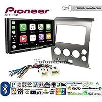 Volunteer Audio Pioneer AVH-W4400NEX Double Din Radio Install Kit with Wireless Apple CarPlay, Android Auto, Bluetooth Fits 2004-2005 Armada 2004-2007 Titan