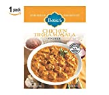 Basu's HomeStyle Chicken Tikka Masala fully prepared entrée pouch (7oz x 1) - Indian curry flavors from home