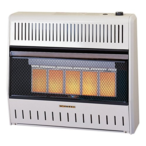 ProCom MNSD5TPA Dual Propane/Natural Gas Vent-free Infrared Radiant Wall Heater, 30,000 BTU (Procom Gas Stoves)