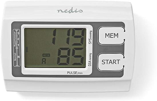 NEDIS BLPR110WT Tensiomètre de Bras Automatique | Grand