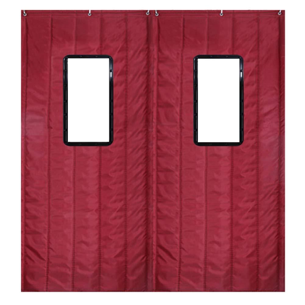 Nclon Tenda di Cotone Mantieni Caldo Addensare Domestico Camera da Letto Aria Parabrezza Rumore Antivento Tenda di Isolamento Termico per Autunno Inverno-90x200cm(35x79inch)