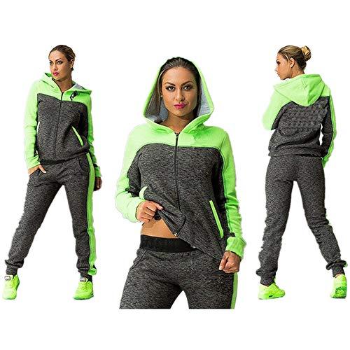 Ladies Hacking Jackets - KIKOY Womens Sweatshirt Set 2 Piece Outfit Hoodie & Sweatpants Jogger Sets Sale Green