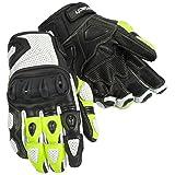 Cortech Men's Impulse ST Glove(White/Hi-Viz, 4X-Large), 1 Pack
