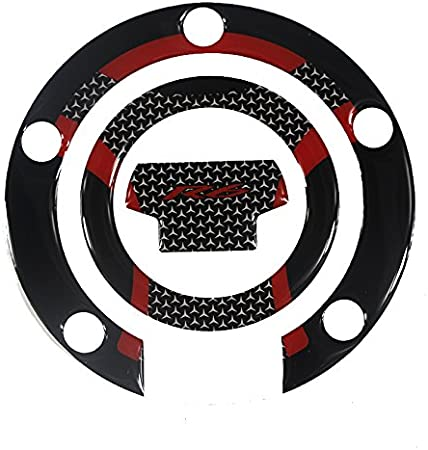 Gas Cap+Tank Pad, Red PRO-KODASKIN Gas Cap Fuel Tank Pad Protection Sticker for YAMAHA YZF R6