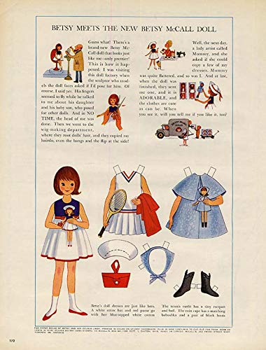 Betsy McCall Meets the New Betsy McCall Doll paper doll page 10 1964