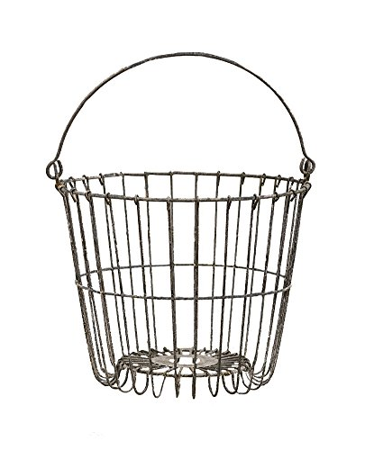 CWI Gifts Galvanized Egg Basket, 9