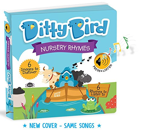 Ditty Bird OUR BEST INTERACTIVE MUSICAL NURSERY RHYMES BOOK for BABIES. Educational and Musical Toddler Toys ages 1-3. Sound Board Books for one year old. 1 year old boy gifts. 1 year old girl gifts.