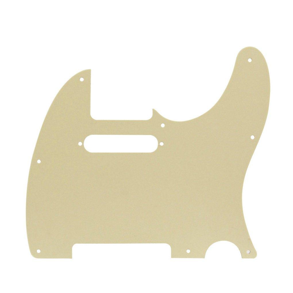 Ikn 8/fori Pickguard per mano sinistra anteriore scratch piastra per USA//Messico standard Fender Telecaster 4Ply Aged Pearl Style