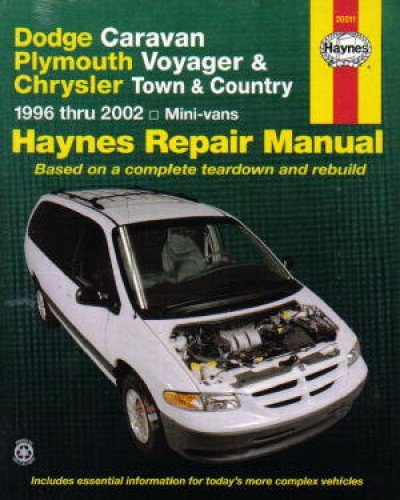 - H30011 Haynes Dodge Caravan Plymouth Voyager Chrysler Town Country Mini-Vans 1996-2002 Repair Manual