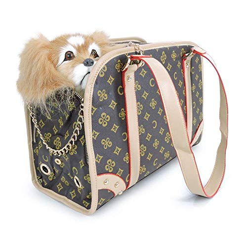 ROLLCW Pet Carrier Tote Around Town Pet Carrier Portable Dog Handbag Dog Purse for Outdoor Travel Walking Hiking (Size : S) ()