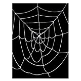 9.5' ft Deluxe Giant Spider Web (White) ~ Halloween Spider Web Decorations & Props