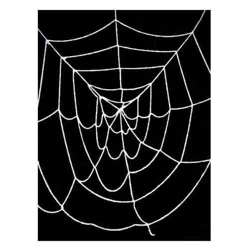 amazoncom 95 ft deluxe giant spider web white halloween spider web decorations props toys games - Spider Web Decoration