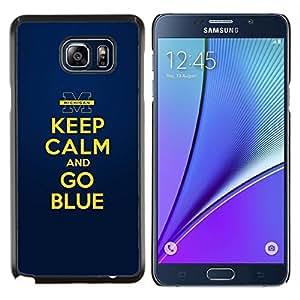 Stuss Case / Funda Carcasa protectora - Oro amarillo Mantenga motivación de la cita en calma - Samsung Galaxy Note 5