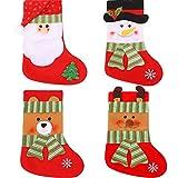 LINGJUN Christmas Stockings Santa Snowman Bear Elk Style for Xmas Eve Kids Gifts