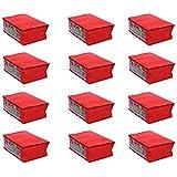Fashion Bizz Red Non Woven Saree Bags Set of 12 Pcs