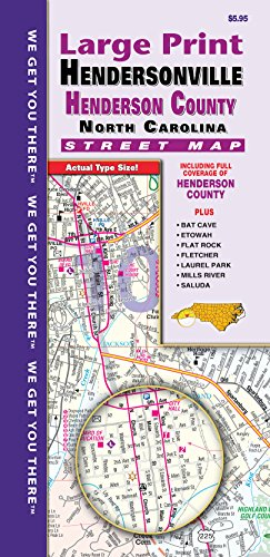 County Nc Maps Road - Hendersonville/Henderson County NC Fold Map