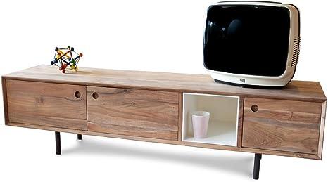 Mueble TV de Estilo Vintage Bascole: Amazon.es: Electrónica