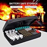 Keenstone Battery Organizer Storage Case, Fireproof