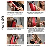 CHI Spin N Curl Ceramic Rotating Curler, Ruby
