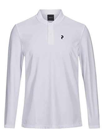 PEAK PERFORMANCE Austin - Polo de manga larga, color blanco ...
