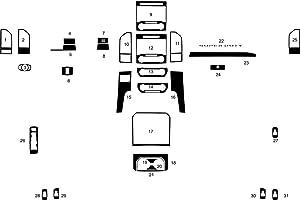 Rvinyl Rdash Dash Kit Decal Trim for Ford F-250 / F-350 F-450 2017-2019 - Gloss (White)