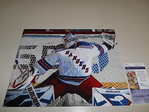- Henrik Lundqvist Autographed Signed 11x14 Photo Memorabilia JSA #M65142 New York Rangers Autograph Nhl