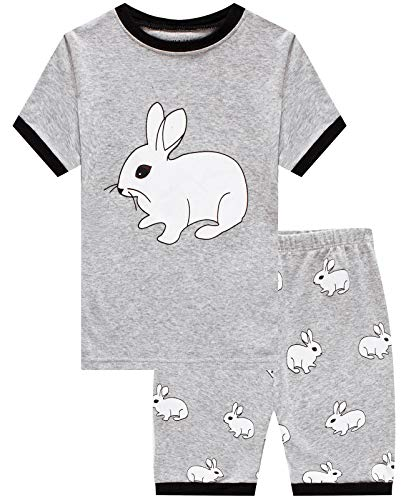 Boys Pajamas Easter Rabbit Short Pjs Toddler Clothes Kids Sleepwear Summer Shirts Size 7
