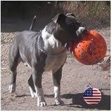 Indestructible 10 Large Dog Ball in Orange Pit Bulls Mastiffs Rottweiler by Unbranded