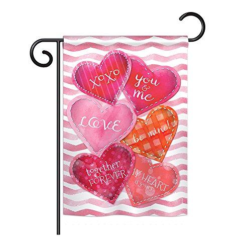 Breeze Decor - Love Together Forever Spring - Seasonal Impressions Decorative Vertical Garden Flag 13
