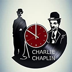 Sir Charles Chaplin Vinyl Wall Clock Comic Actor Living Room Home Decor