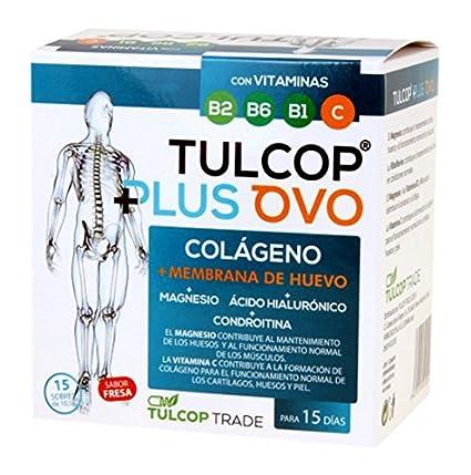 Colágeno con membrana de huevo, magnesio y ácido hialurónico. Tulcop Plus Ovo 15 sobres