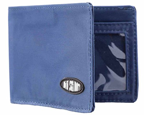 Big Skinny Men's Compact Sports Bi-Fold Slim Wallet, Holds Up to 20 Cards, Navy