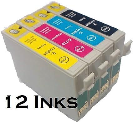 Juego de 12 impresoras compatibles T0715 para EPSON STYLUS D78 ...