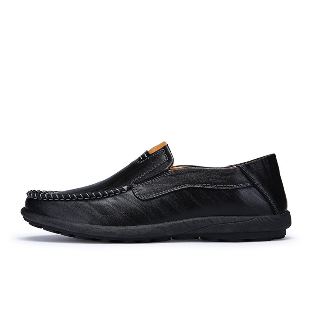 Sherry Love Loafers Men's Casual Style Slip-On Loafer-Black-42 EU