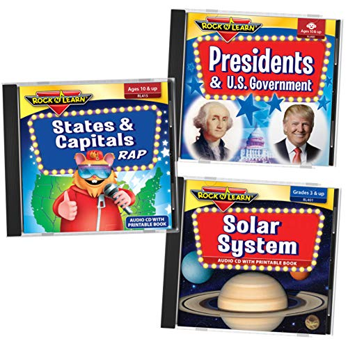 ROCK N LEARN Social Studies & Science Audio 3 CD Set (Facts About The 3 Branches Of Government)