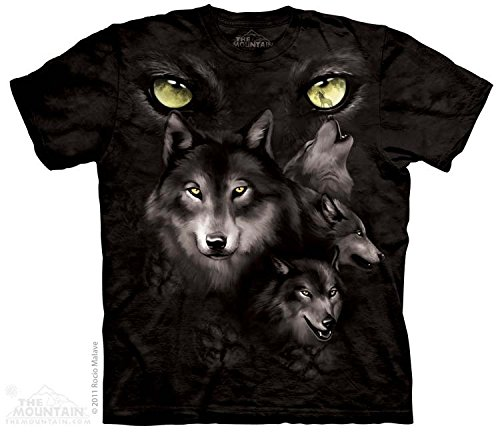 Eyes Adult Black T-shirt (The Mountain Moon Eyes Collage Mens T-shirt XL)