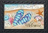 """Briarwood Lane Day in The Sun Summer Doormat Flip Flops Beach Nautical Indoor Outdoor 18""""x30"""""""