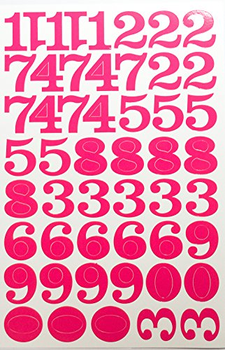 number stickers pink - 6