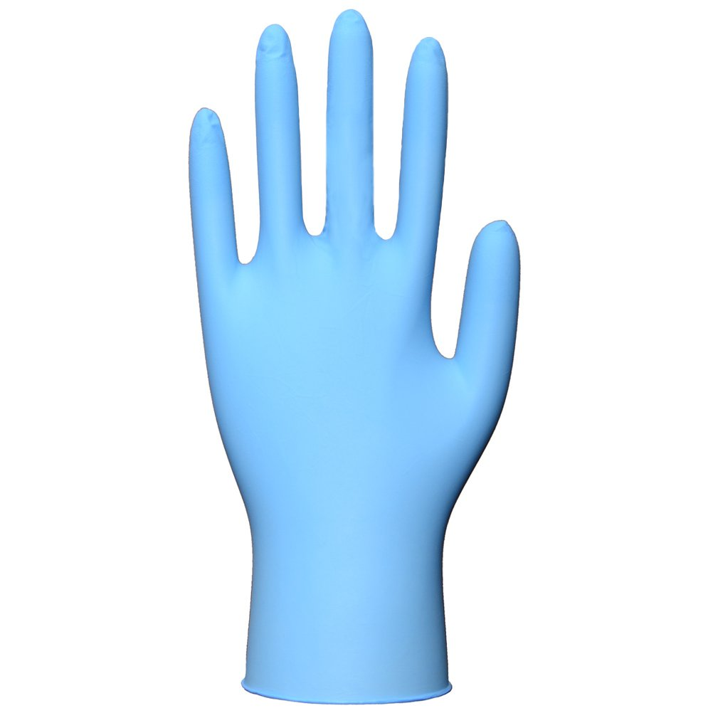 Daxwell Nitrile Medical Exam Gloves, Powder Free, Large, Blue (Box of 100 Gloves)